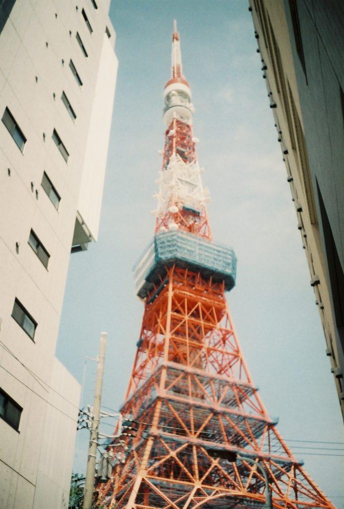 リコーオートハーフで撮った東京タワー